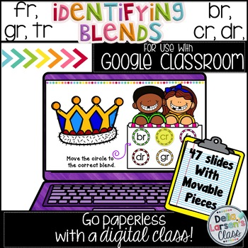 Google Classroom Identifying R Blends in First Grade