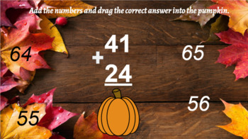 Google Classroom- Interactive 2 Digit Addition No Regrouping- Fall