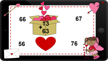 Google Classroom: Interactive 2 Digit Addition No Regrouping- Valentines