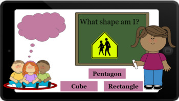 Google Classroom: Interactive 2D and 3D Shapes Review Activity