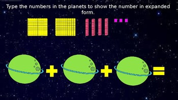 Google Classroom: Interactive 3 Digit Expanded and Picture Form