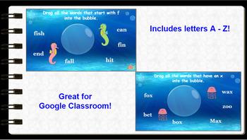 Google Classroom: Interactive A-Z Letter Activities Bundle