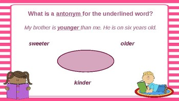 Google Classroom: Interactive  Antonyms and Synonyms Activity