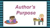Google Classroom: Interactive Author's Purpose Activity