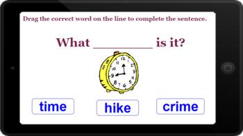 Google Classroom: Interactive CVCe Words Activity