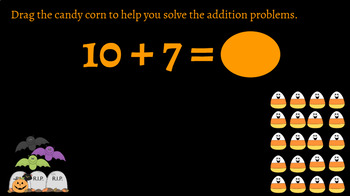 Google Classroom Interactive Candy Corn Addition Activity- Fall Theme