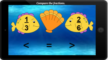 Google Classroom: Interactive Comparing Fractions Activity
