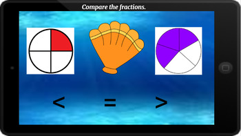 Google Classroom: Interactive Comparing Fractions Activity (Pictures)