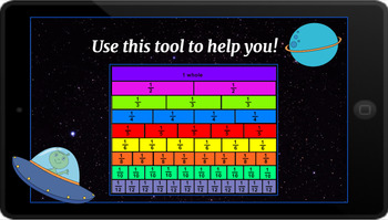 Google Classroom: Interactive Comparing Fractions Activity- Space Theme