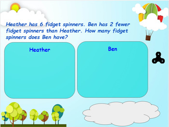 Google Classroom: Interactive Comparing Word Problem Activity
