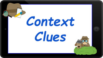 Google Classroom: Interactive Context Clues Activity