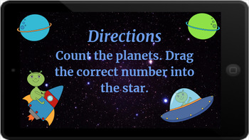 Google Classroom: Interactive Counting up to 20 Activity Aliens