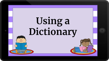 Google Classroom: Interactive Dictionary Activity