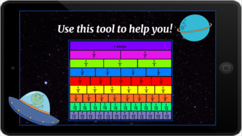 Google Classroom: Interactive Equal Fractions Activity- Space Theme