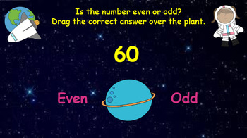 Google Classroom Interactive Even and Odd Activity (2 digit)