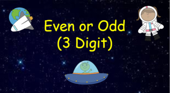 Google Classroom: Interactive Even or Odd (3 Digit) Activity