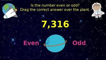 Google Classroom: Interactive Even or Odd Activity (4 digit)