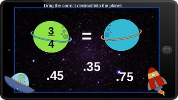 Google Classroom: Interactive Fraction to Decimals Activity
