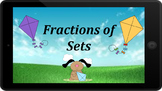 Google Classroom: Interactive Fractions of Sets- Kite Theme