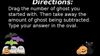 Google Classroom Interactive Ghost Subtraction Activity- Fall Theme