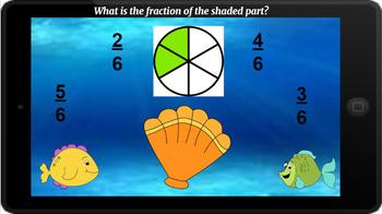Google Classroom: Interactive Identifying Fractions Activity