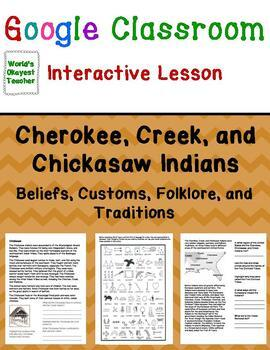 Google Classroom Interactive Lesson: Cherokee, Creek, and Chickasaw