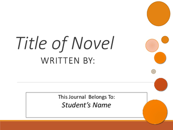 Interactive Literature PowerPoint Journal for Any Novel