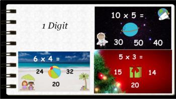 Google Classroom: Interactive Multiplication Activities Bundle