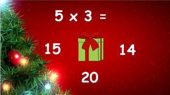 Google Classroom: Interactive Multiplying Activity- Christmas Theme