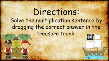 Google Classroom- Interactive Multiplying Activity- Pirate Theme