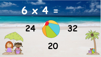 Google Classroom: Interactive Multiplying Activity- Summer Theme