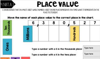 4th Grade MathGoogle Classroom Interactive Notebook Activities GROWING BUNDLE