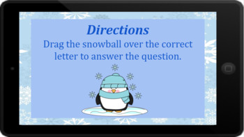 Google Classroom: Interactive Place Value 3 Digit Activity (Winter)