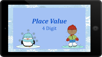 Google Classroom: Interactive Place Value 4 Digit Winter