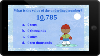 Google Classroom: Interactive Place Value 5 Digit Activity (Winter)