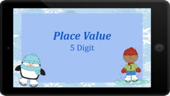 Google Classroom: Interactive Place Value 5 Digit Winter