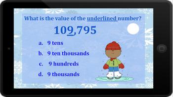 Google Classroom: Interactive Place Value 6 Digit Activity (Winter)