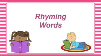 Google Classroom: Interactive Rhyming Words Activity