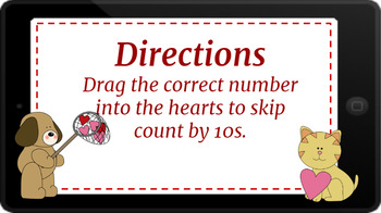 Google Classroom: Interactive Skip Counting by 10s- Valentines