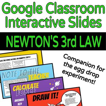 Newton's 3rd Law Interactive Lesson & Activity