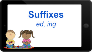 Google Classroom: Interactive Suffixes ed and ing Activity