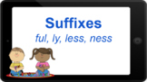 Google Classroom: Interactive Suffixes- ful, ly, less, ness Word Work Activity