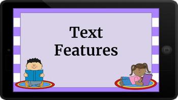 Google Classroom: Interactive Text Features Activity