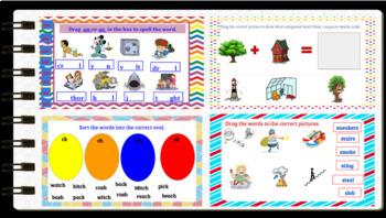 Google Classroom Interactive Word Work Activities Bundle
