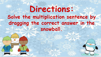 Google Classroom- Interactive multiplying Activity- Winter Theme