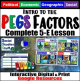 Google Classroom | Intro PEGS Factors Lesson | Pol Econ Ge