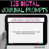 Google Classroom Journal Writing 100 Prompts