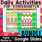 Google Classroom Kindergarten Daily Activities Distance Le