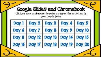 Google Classroom Kindergarten February Morning Work