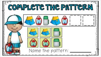 Google Classroom Kindergarten Patterns Practice